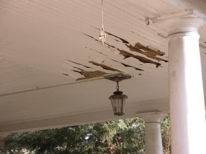 Creating a maintenance plan that includes a schedule for regular inspections and repairs means that peeling and flaking paint seen here is halted and corrected long before it can deteriorate to the point of exposing bare wood to the elements.